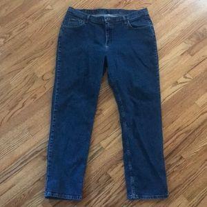 Blue denim jeans by Riders size 20W